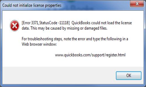 QuickBooks Licence error