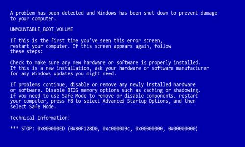 Reboot Error